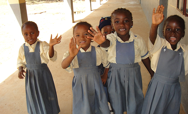 Schoolchildren in Mangu (Nigeria) in October 2016